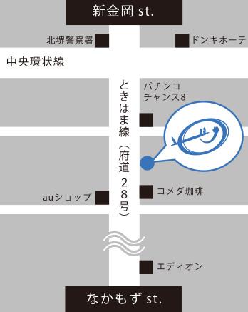 ななぷれの地図